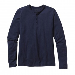 See M's L/S Daily Henley in Navy Blue