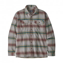 See M's L/S Fjord Flannel Shirt in Defender: Feather Grey