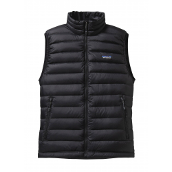 See Down Sweater Vest Mens in Black