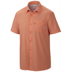 See Slack Tide Camp Shirt M in Bright Peach