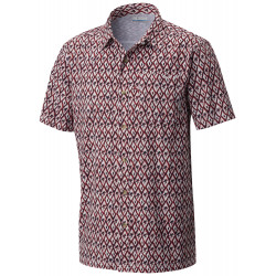 See Super Slack Tide Camp Shirt in Sunset Red Diam