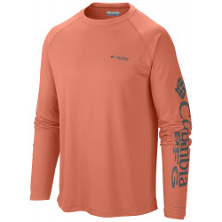 See Terminal Tackle LS Shirt M in Bright Peach