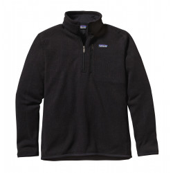 See Better Sweater 1/4 Zip M in Black