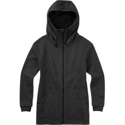See Minxy Fleece Full-Zip Hoodie in BLACK HEATHER