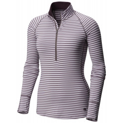 See Butterlicious Stripe Long Sleeve Crew in Purple Dusk