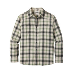 See Saloon Flannel Shirt in Cream Plaid