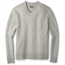 See Sparwood V-Neck Sweater M in Light Gray Done
