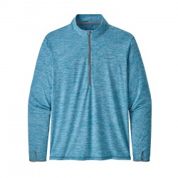 See Tropic Comfort 1/4 Zip Ms in Mako Blue