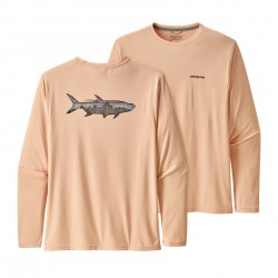 See Cap Cool Daily Fish Graphic Shirt Mn in Sketched Fitz Roy Tarpon: Light Peach Sherbet