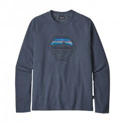 See M's Fitz Roy Hex LW Crew Sweatshirt in Dolomite Blue