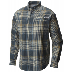 See Tamiami Men's Flannel in Blue Heron Plai