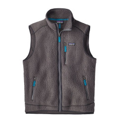 See Retro Pile Vest Ms in Forge Grey