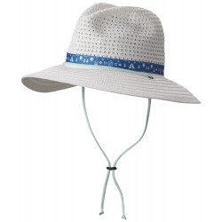 See Bella Falls Straw Hat in White