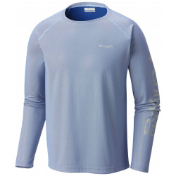 See Solar Shade Long Sleeve Ms in Vivid Blue, Whi