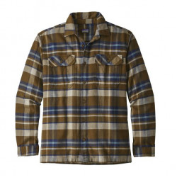 See Fjord Flannel Shirt M in BASE Sediment