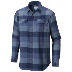 See Flare Gun Flannel III Long Sleeve Shirt M in Dark MountainLG