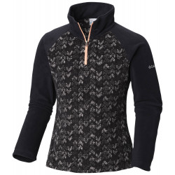 See Glacial II Fleece Print Half Zip in Black Arrows Pr