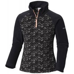 See Glacial II Fleece Print Half Zip in Black Arrows Pr
