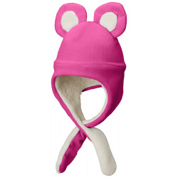 See Tiny Bear II Beanie Infant in Cactus Pink