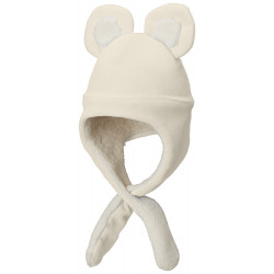 See Tiny Bear II Beanie Infant in Chalk