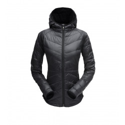 See Solitude Hoody Down Jacket Wm in Black Black