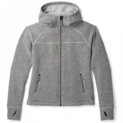 See Hudson Trail Full Zip Fleece Sweater W in Light Gray