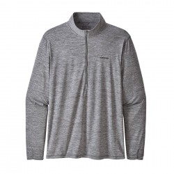 See Tropic Comfort 1/4 Zip Ms in Feather Grey