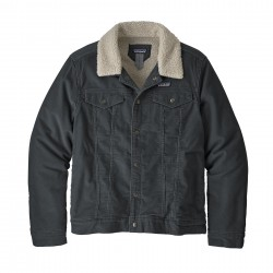 See M's Pile Lined Trucker Jkt in Forge Grey