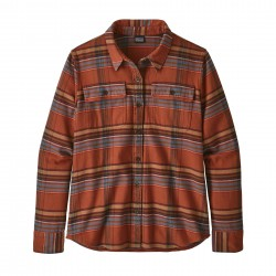 See W's L/S Fjord Flannel Shirt in Cabin Time: Barro Brown