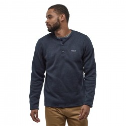 See M's Better Sweater Henley P/O in New Navy
