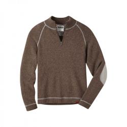 See Fleck Qtr Zip Sweater in Terra
