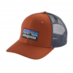 See P6 Logo Trucker Hat in CPOR Red