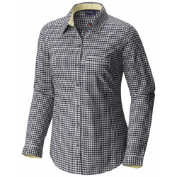 See Super Harborside Woven LS Shirt Ws in Coll Navy Gingh