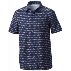 See Super Slack Tide Camp Shirt in Coll Navy Ameri