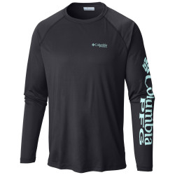 See Terminal Tackle LS Shirt M in Black Gulf Stream
