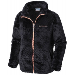See Fluffy Fleece Full Zip G in Black, Tiki Pin