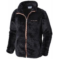 See Fluffy Fleece Full Zip G in Black, Tiki Pin
