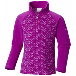 See Glacial II Fleece Print Half Zip in Bright Plum Arr