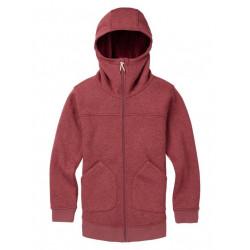 See Minxy Fleece Full-Zip Hoodie in ROSE BROWN HEAT