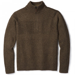 See Ripple Ridge Half Zip Sweater M in Sumatra Heather