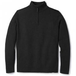 See Sparwood Half Zip Sweater M in Charcoal Heathe