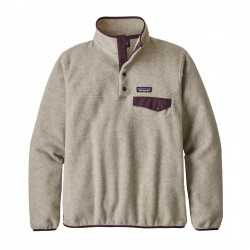 See W's LW Synch Snap-T P/O in Oatmeal Heather w/Deep Plum