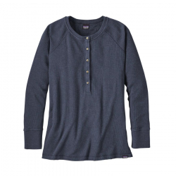 See Waffle Henley Ws in Smolder Blue