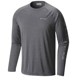 See Terminal Tackle Heather LS Ms in Charcoal Heather
