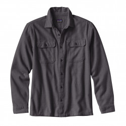 See Fjord Flannel Shirt M in Forge Grey