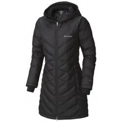 See Heavenly Long Hooded Jacket W in Black