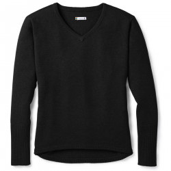 See Shadow Pine V-Neck Sweater W in Black