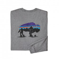 See M's L/S Fitz Roy Bison Responsibili-Tee in Gravel Heather
