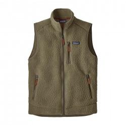See M's Retro Pile Vest in Sage Khaki