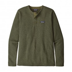 See M's Better Sweater Henley P/O in Industrial Green Rib Knit